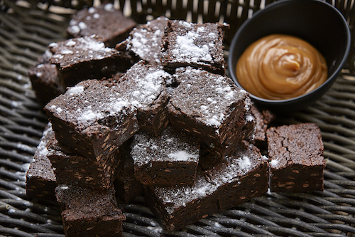 Chocolate chip brownie squares