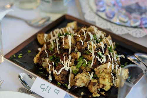 Chargrilled cauliflower with tahini