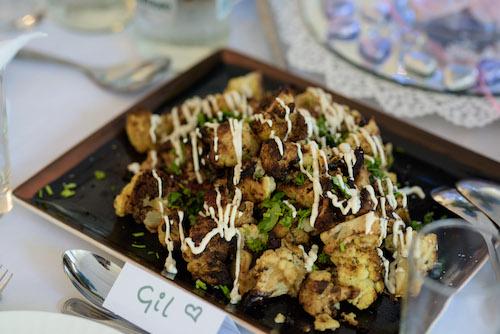 Chargrilled cauliflower with tahini