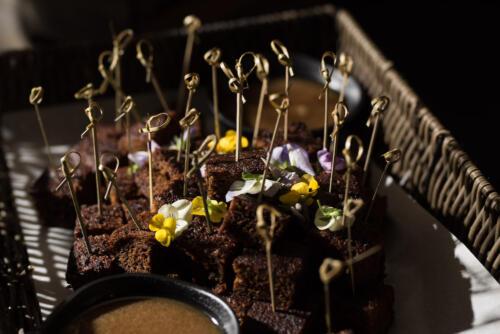 Sticky toffee pudding fondue