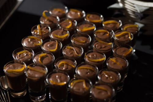 Chocolate mousse with candied orange zest