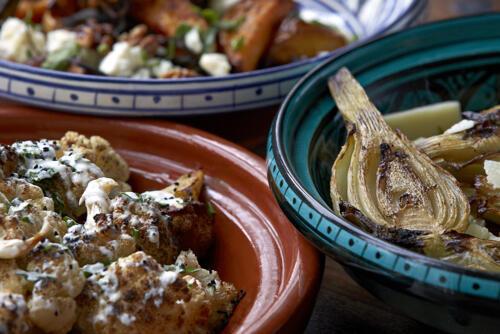 Middle eastern salad bar
